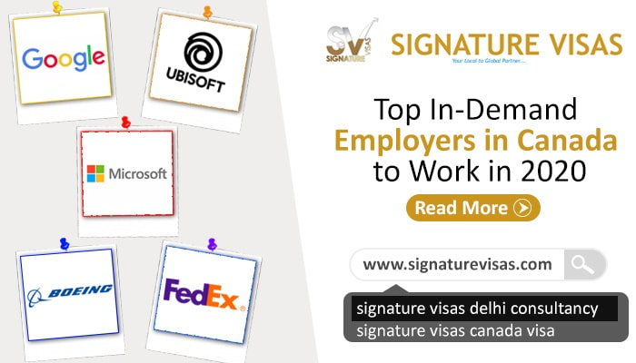 In Demand Employers in Canada to Work with