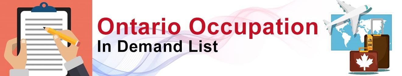 Ontario Occupation In Demand List 2020